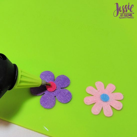 Surebonder Precision Point Glue Gun craft product review from Jessie At Home - small dot of glue