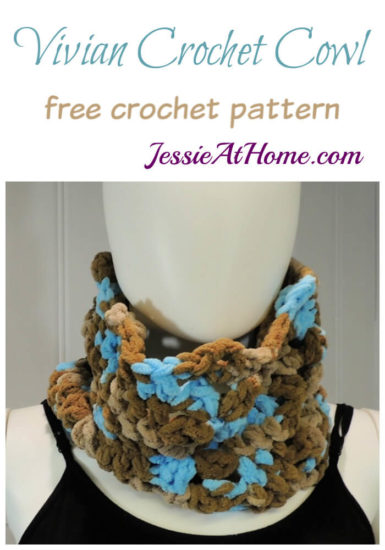 Vivian Crochet Cowl free crochet pattern by Jessie At Home