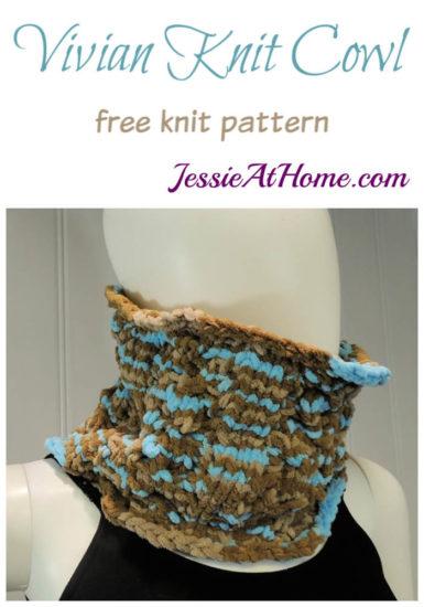 Vivian Knit Cowl free knit pattern by Jessie At Home