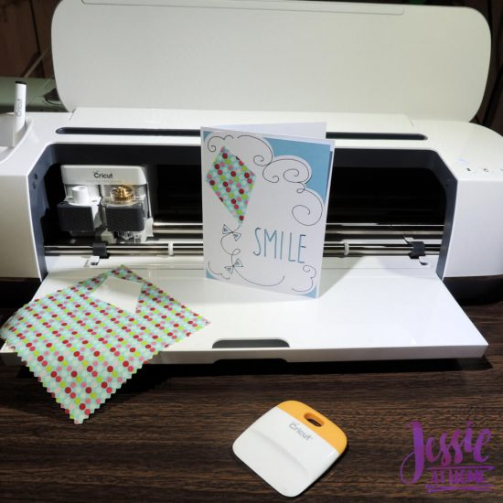 Cricut Maker Getting Started from Jessie At Home - Card with Fabric
