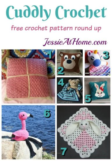 Cuddly Crochet - free crochet pattern round up from Jessie At Home