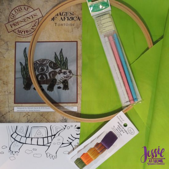 Global Artisan Needlepoint Designs & Kits craft review from Jessie At Home - Turtle