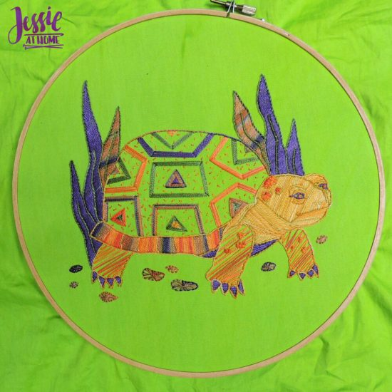 Global Artisan Needlepoint Designs & Kits craft review from Jessie At Home - Turtle Done
