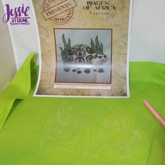 Global Artisan Needlepoint Designs & Kits craft review from Jessie At Home - all traced