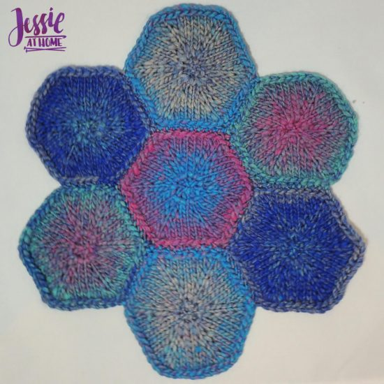 Hexagon Trivet free knit pattern by Jessie At Home - 2
