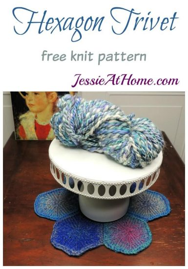 Hexagon Trivet free knit pattern by Jessie At Home