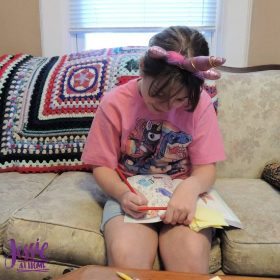 Jessie At Home Selfie Sunday - Kyla and her Unicorn Journal