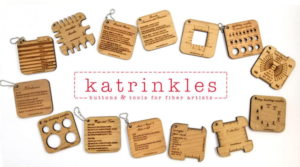 Katrinkles - Awesome wood notions for your yarnie obsession from Jessie At Home - mini tools