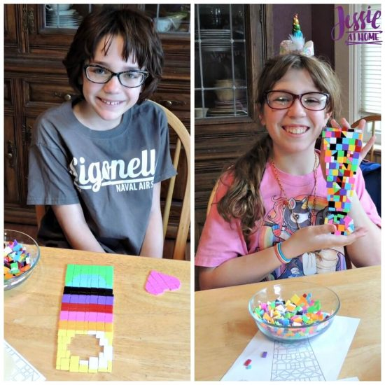 Marvelous Mosaics Orange Art Box Projects from Jessie At Home - creating away