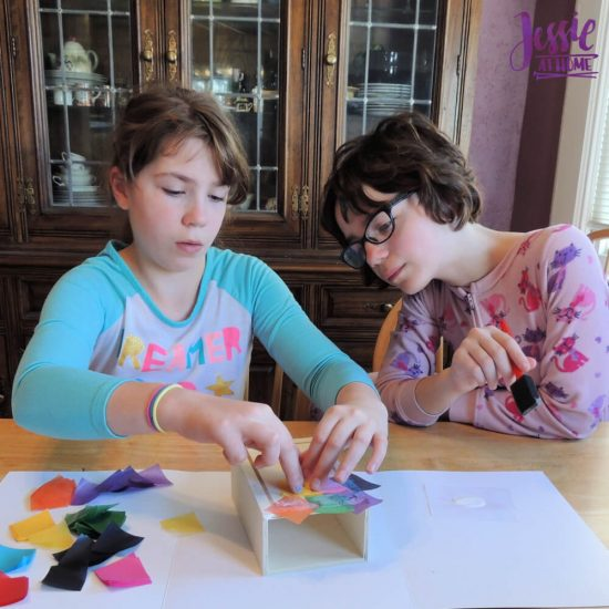 Marvelous Mosaics Orange Art Box Projects from Jessie At Home - mod podge fun