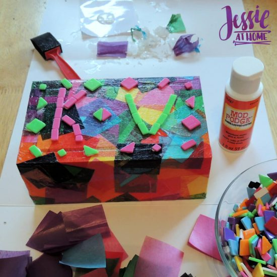 Marvelous Mosaics Orange Art Box Projects from Jessie At Home - so cute