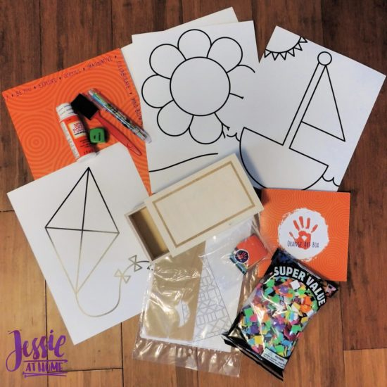Marvelous Mosaics Orange Art Box Projects from Jessie At Home - what's in the box