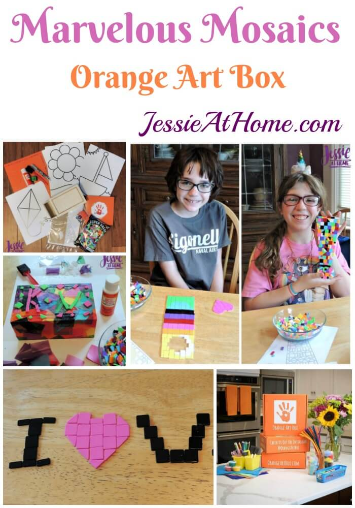 Marvelous Mosaics - Orange Art Box review from Jessie At Home