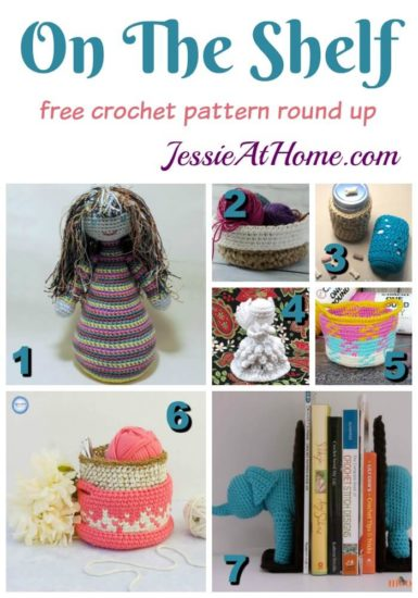 On The Shelf free crochet pattern round up by Jessie At Home