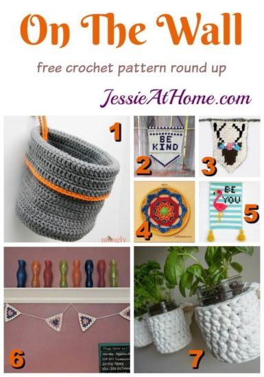 On The Wall free crochet pattern round up from Jessie At Home