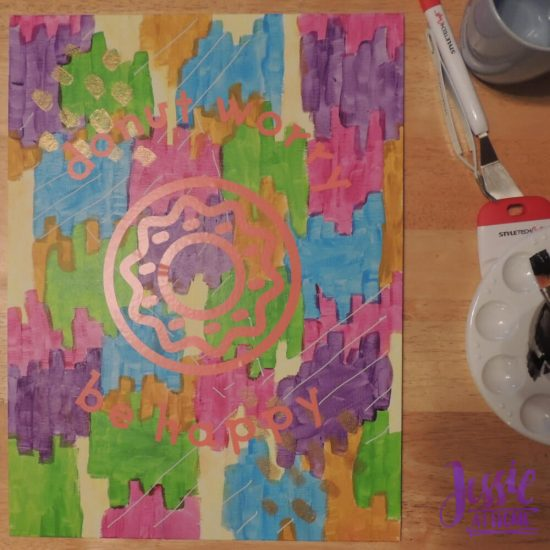 Reverse Image Painting Tutorial by Jessie At Home - Ready for Top Coat