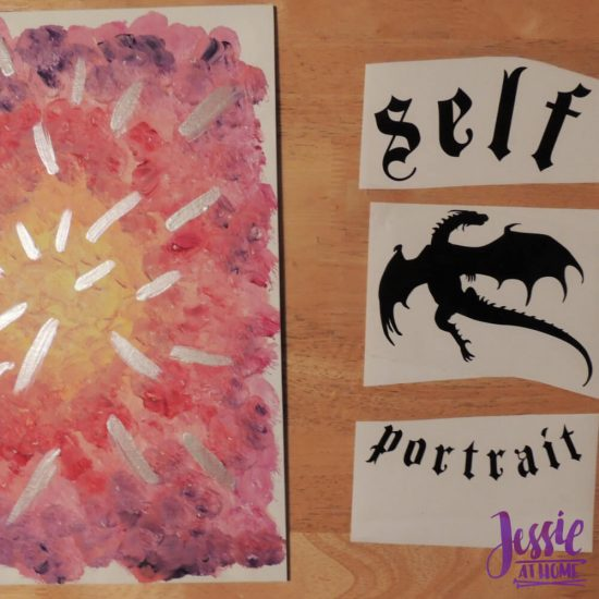 Reverse Image Painting Tutorial by Jessie At Home - Ready for Vinyl