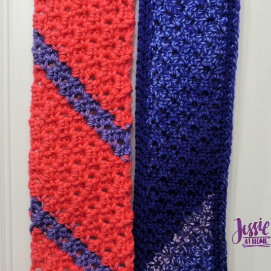 Scarf Squared Half Double Crochet C2C Box Stitch Tutorial - free crochet pattern and tutorial by Jessie At Home - 3