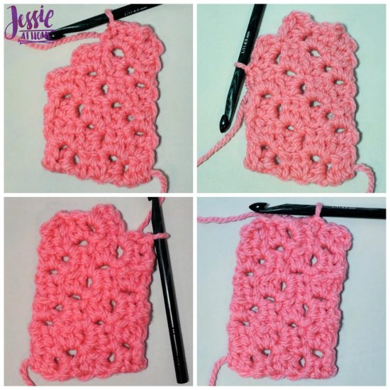 Scarf Squared Half Double Crochet C2C Box Stitch Tutorial - free crochet pattern and tutorial by Jessie At Home - - Finishing