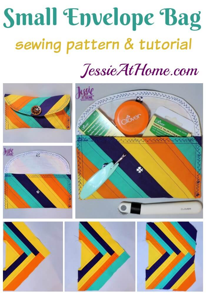Small Envelope Bag - sewing pattern and tutorial | Jessie At