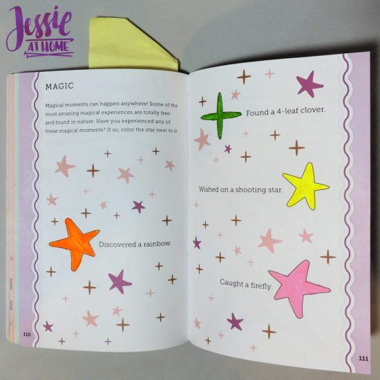 Unicorn Tales - a guided journal review from Jessie At Home - stars