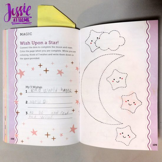 Unicorn Tales - a guided journal review from Jessie At Home - wishes