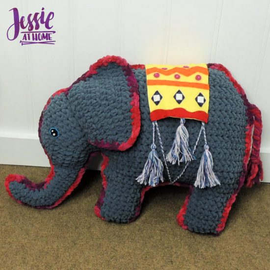 Amir the Elephant free crochet pattern by Jessie At Home - 3