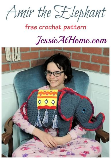 Amir the Elephant free crochet pattern by Jessie At Home
