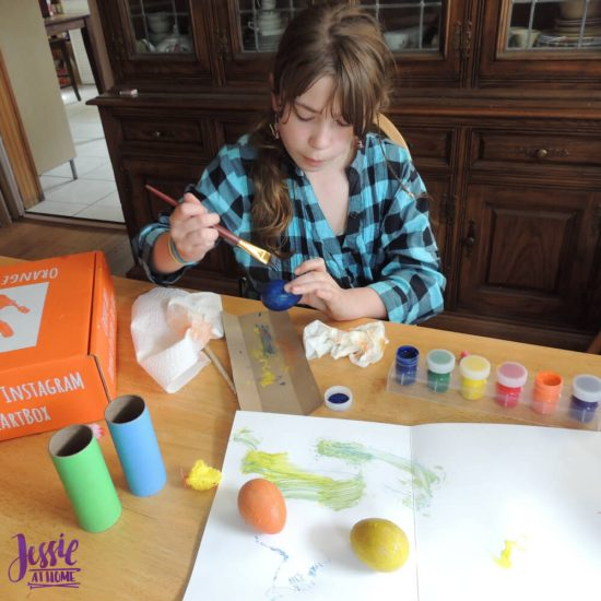 Bitty Birdies Orange Art Box Projects from Jessie At Home - Kyla creating