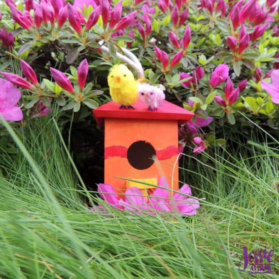 Bitty Birdies Orange Art Box Projects from Jessie At Home - birdhouse