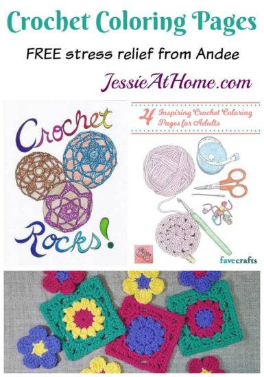 Crochet Coloring Pages free stress relief from Andee by Jessie At Home