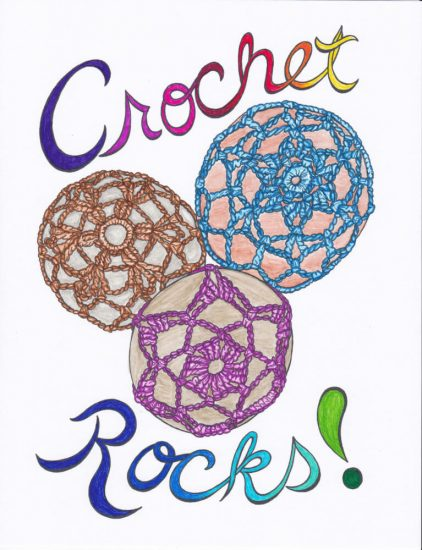 Crochet Coloring Pages free stress relief from Andee by Jessie At Home - Crochet Rocks