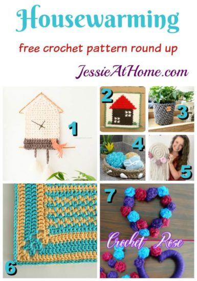 Crochet Housewarming Gifts free crochet pattern round up from Jessie At Home
