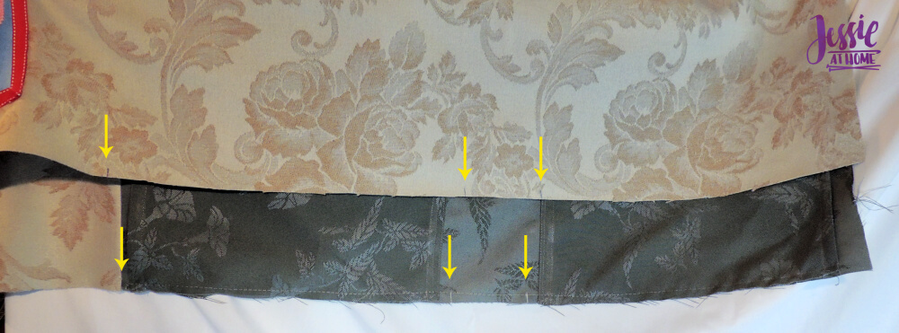 Diamond Dotz Messenger Bag Sewing Tutorial by Jessie At Home - marked for sides