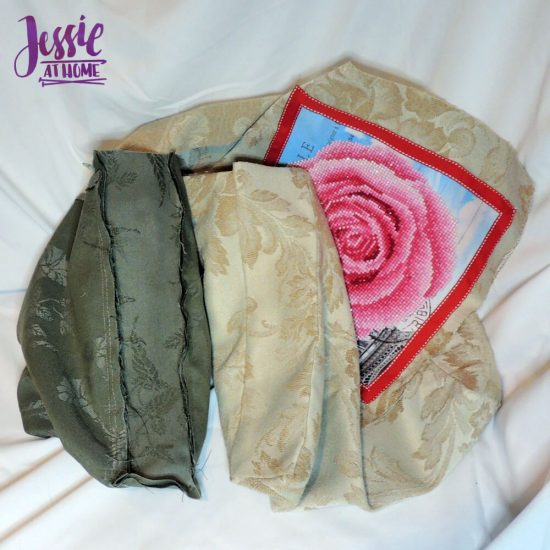 Diamond Dotz Messenger Bag Sewing Tutorial by Jessie At Home - sides sewn