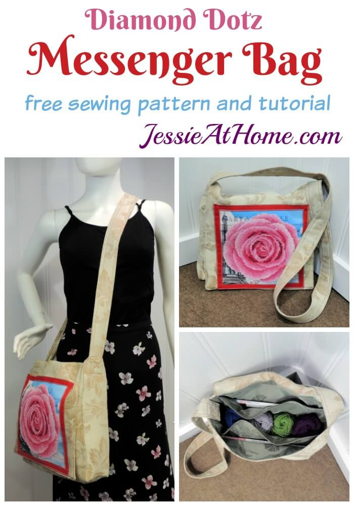 Diamond Art Messenger Bag Sewing Tutorial by Jessie At Home