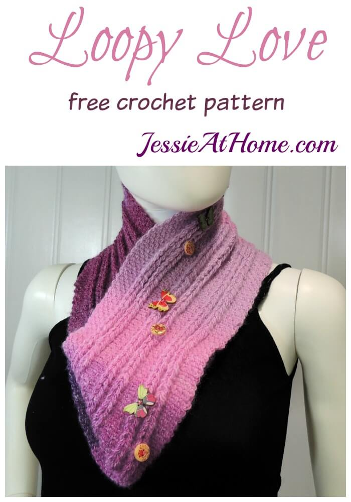 Loopy Love - free Jacob's Ladder Crochet Pattern by Jessie At Home