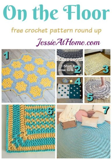 On the Floor free crochet pattern round up from Jessie At Home