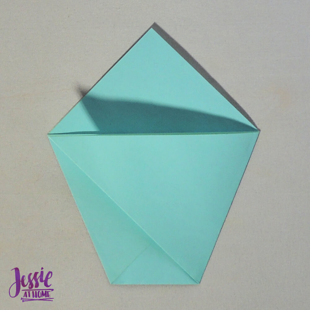 Easy Origami Cup Tutorial from Jessie At Home - Step 4