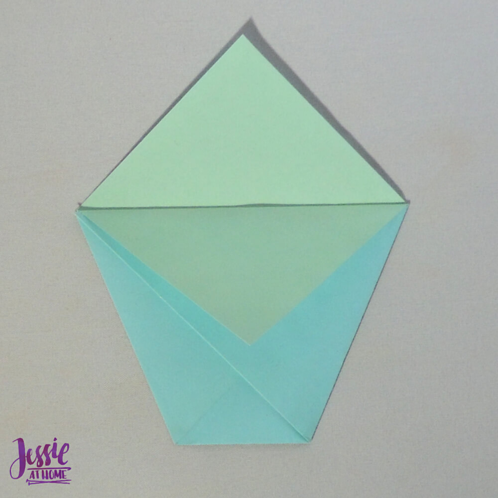 Easy Origami Cup Tutorial from Jessie At Home - Step 5