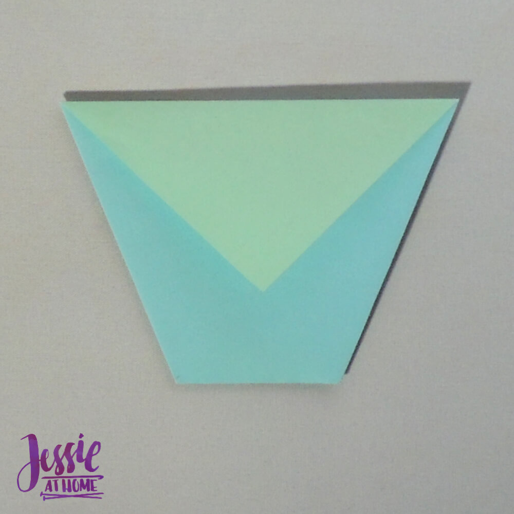 Easy Origami Cup Tutorial from Jessie At Home - Step 6
