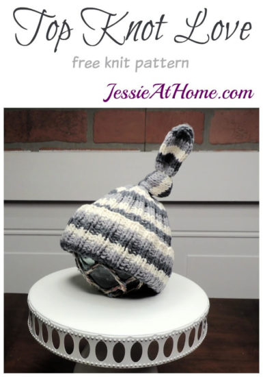 Top Knot Love free knit pattern by Jessie At Home