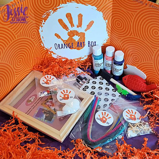 Under the Sea Fun with Orange Art Box from Jessie At Home - all the goodies
