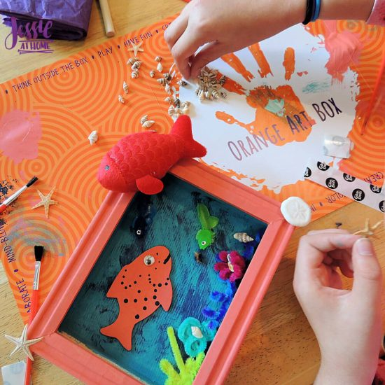 Under the Sea Fun with Orange Art Box from Jessie At Home - so many shells