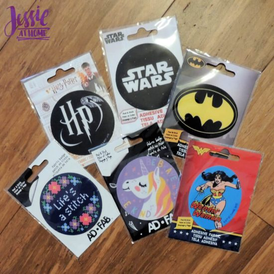 Adhesive Fabric Patches featuring Harry Potter and Star Wars - Jessie At Home - so many choices