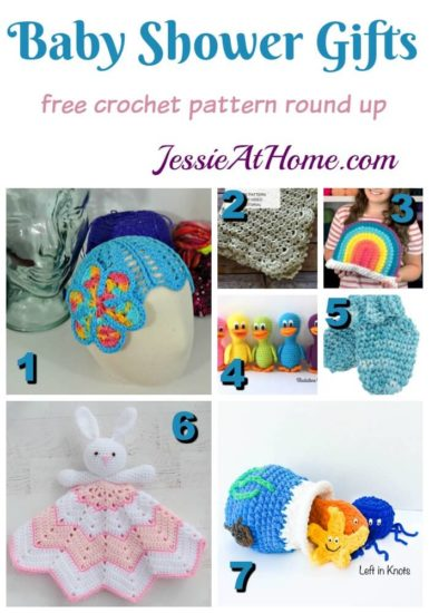 Baby Shower Crochet Ideas - free crochet pattern round up from Jessie At Home