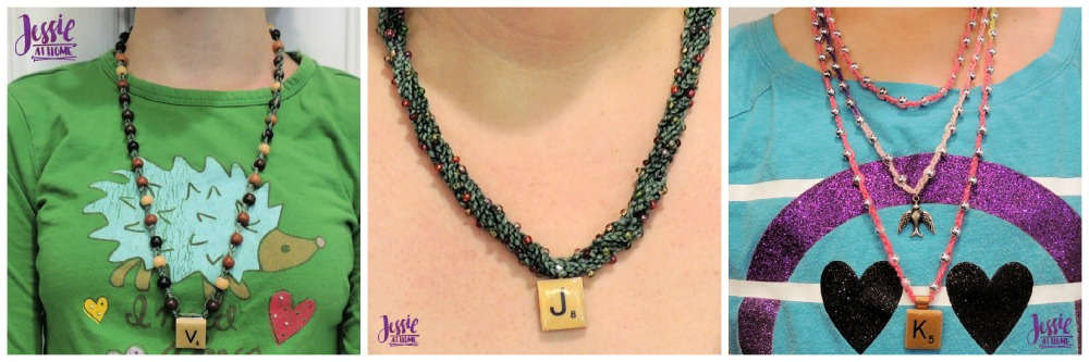 Crochet Necklace with Pendant and Beads by Jessie At Home - all 3