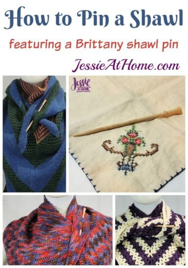 How to Pin a Shawl - featuring a Brittany shawl pin - Jessie At Home