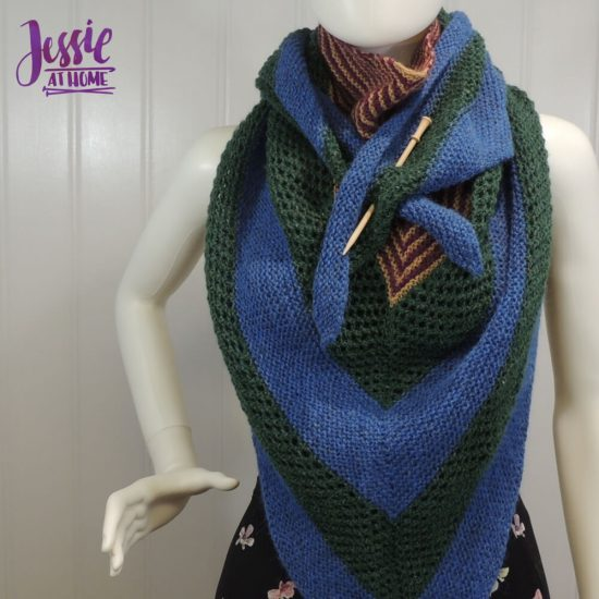 How to Pin a Shawl - featuring a Brittany shawl pin - Jessie At Home - Tirangle Shawl