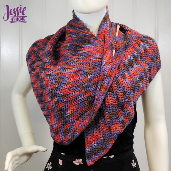 How to Pin a Shawl - featuring a Brittany shawl pin - Jessie At Home - asymmetrical shawl